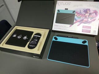 tableta gráfica intous comic azul