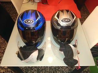 Juego de dos cascos moto motocicleta homologados