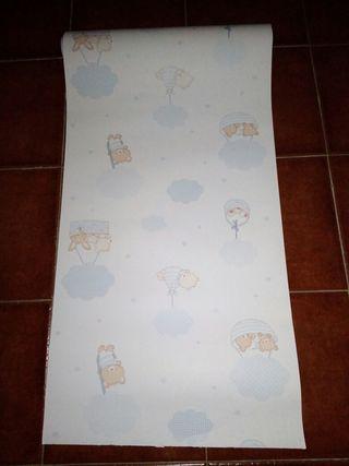 papel embalar habitacion recien nacido bebe niño