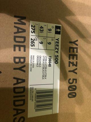 yeezy 500 utility black adidas num 43 1/3