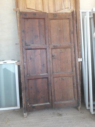 puertas de madera antiguas de segunda mano en wallapop