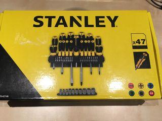 Maletin destornilladores Stanley 47 acc -NUEVO-.