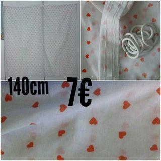cortina visillo 140cm