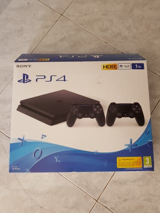 PlayStation 4 Slim 1TB + 2 mandos + 2 juegos
