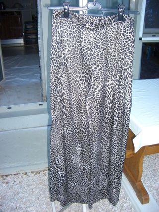 Pantalón leopardo largo y fino (talla 38)