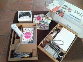 Consola wii + juegos + mandos