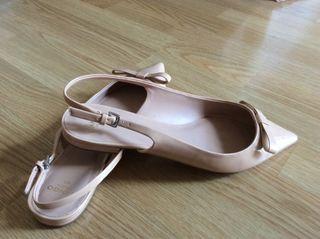 Zapatos planos bailarinas nude