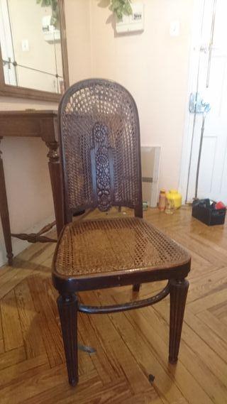 sillas antiguas lote de 6