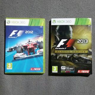 XBOX 360 Formula 1 2012 y 2013