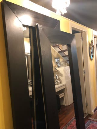 Espejo gigante moldura negra