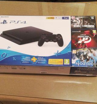 Consola Ps4 Nueva y 3juegos