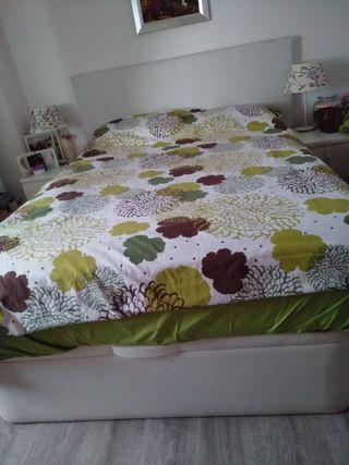 Cama 1,35: canapé + colchón + cabecero