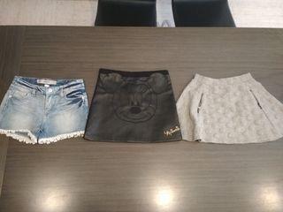 faldas y pantalon corto talla 6