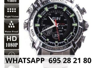 Video reloj FULL HD 1080 Plata njt