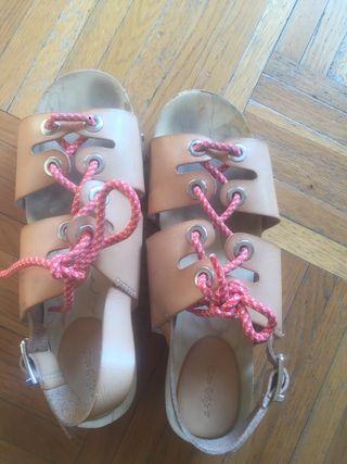 Sandales zara en bois