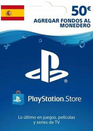 Tarjeta psn 50€ para PS4
