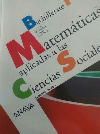 Libro matemáticas aplicadas a las CCSS 1 bach