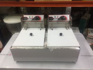 Freidora eléctrica de 6+6 litros
