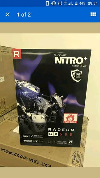 TARJETA GRAFICASHAPPHIRE RADEON NITRO+ RX 580 8GB