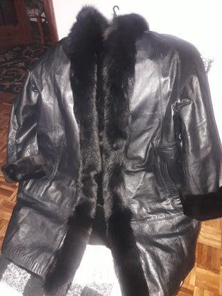 abrigo piel autentica reversible