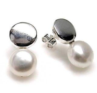 Pendientes plata 925 y perla