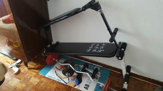bancos pesas y bici