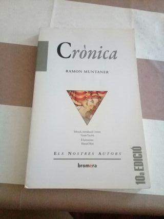 """Libro """"Crònica Ramon Muntaner"""""""