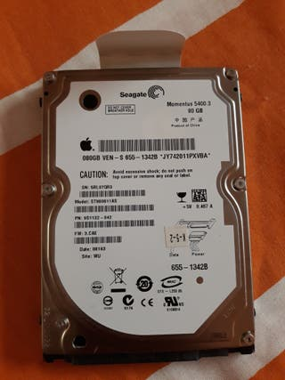 disco duro 80 gb apple.