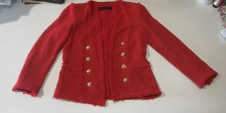 Chaqueta roja Zara (S)