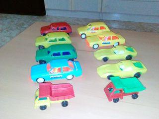 coches plastico años 70