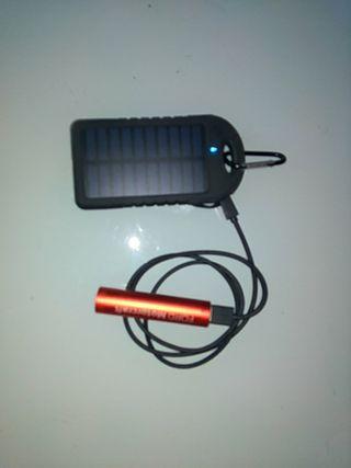 Cargador Solar + Baretia de acumulabion