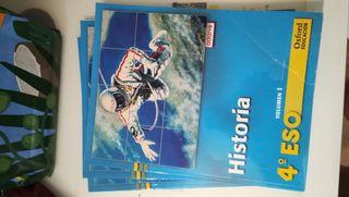 libro escolar Oxford Historia 4°Eso