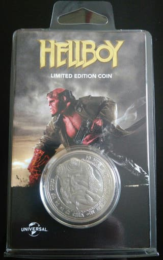 Moneda plata ed.limitada Hellboy.N.1154