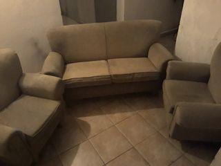 conjunto sofá y sillones con transporte