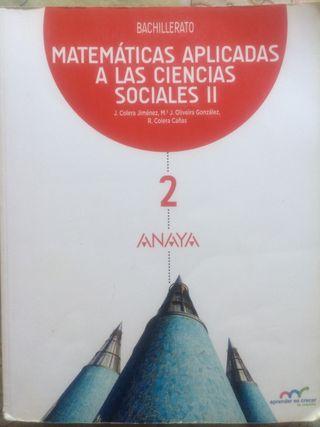 Libro 2 Bachillerato Matemáticas Sociales