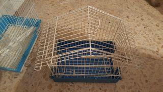 Jaula pajaro pequeño canario o periquito