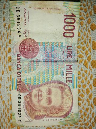 billete antiguo italiano 1000 lire mille