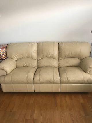 Sofa 3 plazas piel reclinable