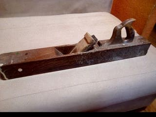 herramienta de carpintero garlopa antigua