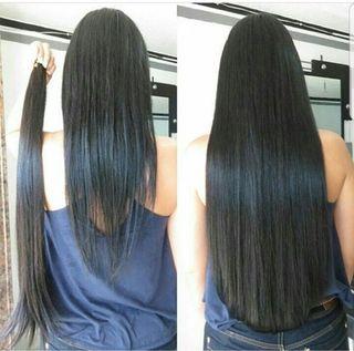 Extensión de pelo humano a nudo y AlisadoBrasileño