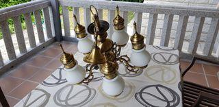 Lámpara de bronce