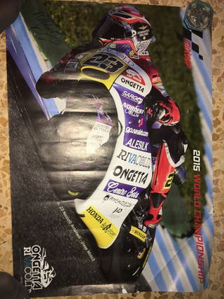 Póster Moto GP firmado