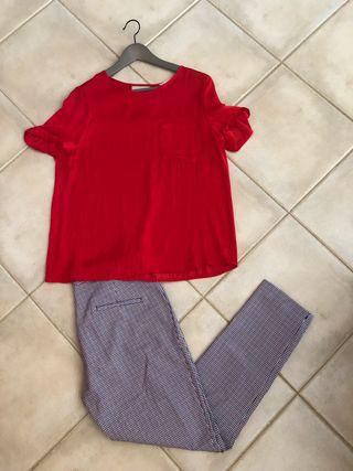 Conjunto pantalon y 2 tops