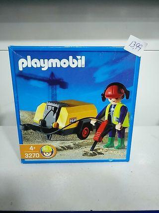 Playmobil 3270 obrero con compresor. Descatalogado
