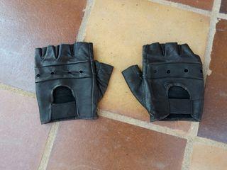 Guantes tácticos sin dedos de cuero