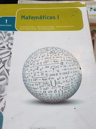 Libro Matematicas 1 Bachillerato Editex