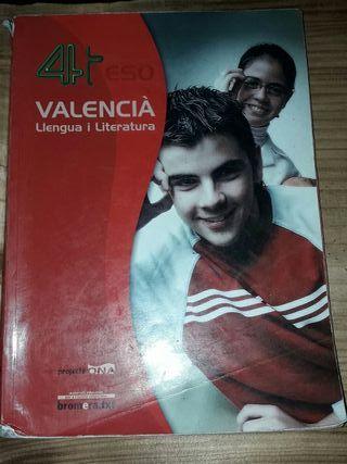 Libro 4ESO Valencià, llengua i literatura
