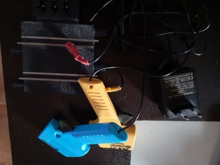 mandos alimentación con pista escalextric compac