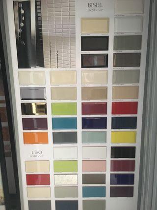 Azulejo 10x20 biselado y liso en todos los colores