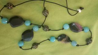 collares de Lapislazulit y agata